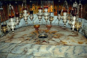 Star marking the birthplace of Jesus, in Bethlehem